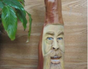 Wood Spirit Wood Carving Old Man Cabin Decor Garden Barn Art