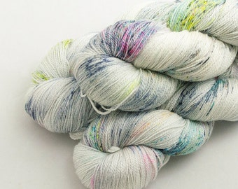 Pack it Up! on Catwalk, lace weight handdyed yarn, indie, indiedyed, 17.5 micron merino, silk