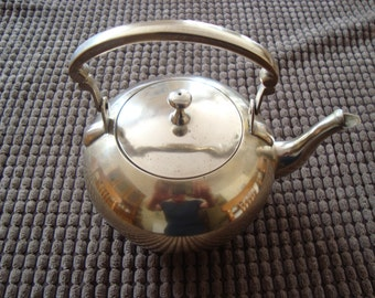 Vintage French brass teapot