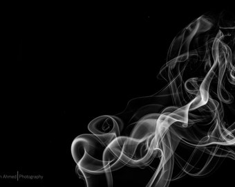 Black & white smoke photos [digital]