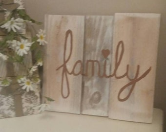 family-Reclaimed wood, handpainted sign