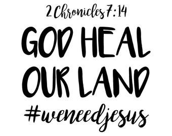 God Heal Our Land Printable