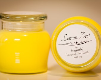 Soy Candle - Lemon Zest - Honey Pot