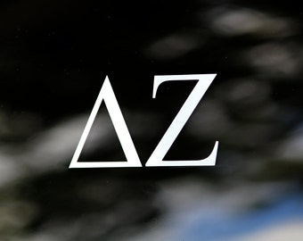 Delta Zeta | White Adhesive Decal