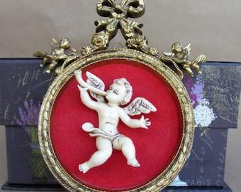 Gold Cherub Hanging Ornaments