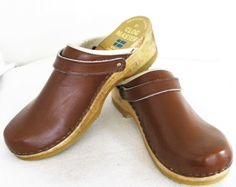 Vintage Genuine Clogs By Clog Master Made By Sven Clogs 7/8N