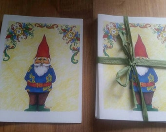 Gnome Greeting Cards 5 pack