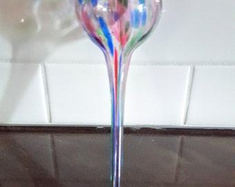 Blown Glass Watering Globe - Multicolored