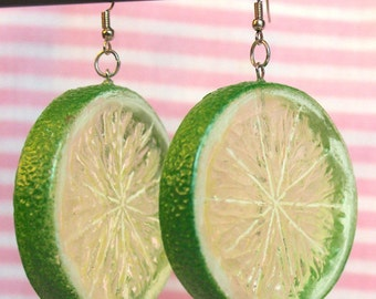 Lime Fruit Earrings
