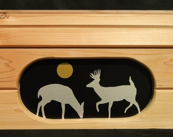 Cedar Scenes Mailbox - Deer