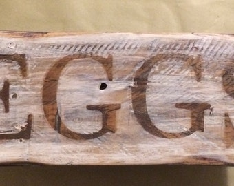 Wooden Eggs Sign