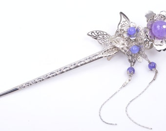 Luxury Pearl Hair Pin Stick-Butterfly