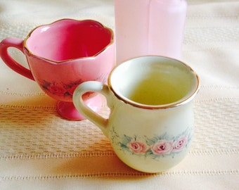 Mini Tea Cup Candle Holders (Sold As A Set Of Two)