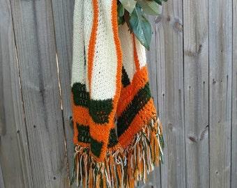 Hand knit Scarf or Tablerunner