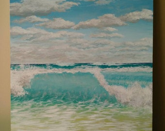 "Caribbean Wave 11x14"""