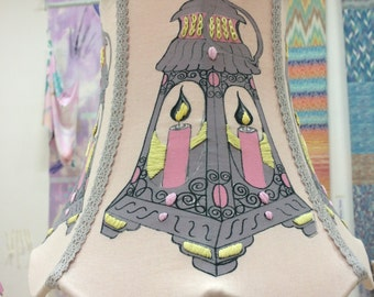 Adorned Avenue Collection.     Hand Made, Hand Embroidery Lantern Lamp Shade