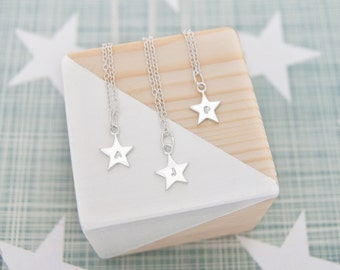 Personalised Initial Necklace, Silver Star Necklace, 18th Birthday Gift For Daughter, 18th Birthday Gift Ideas, 16th Birthday Gift For Her