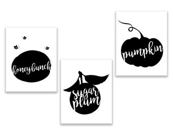 Cuppy Cake Song Trio in Classic Black and White *INSANT DOWNLOAD* High Quality 8 x 10