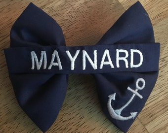 Nametape with Design - Nametape Bow - Military Bow - Handmade Bow - Hair Accessories - Hair Bow