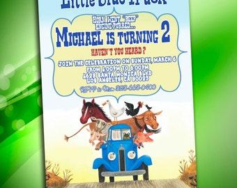 Little Blue Truck Invitation, Little Blue Truck Birthday, Little Blue Truck Invites, Little Blue Truck Party