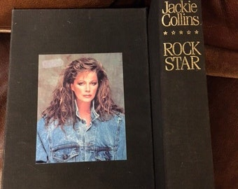 Limited, Signed Jackie Collins, Rock Star, 1988, #183 of #250 with Slipcase, First Edition, Limited Edition