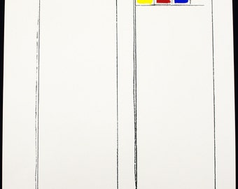Concrete Art. Untitled, 1970/71. Lithograph (re-worked) by Peter STAECHELIN