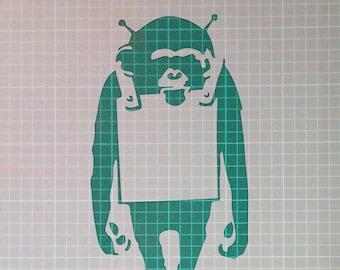 Banksy Monkey Mylar Airbrush Painting Wall Art Stencil