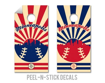 Minnesota Twins Cornhole Board Decals