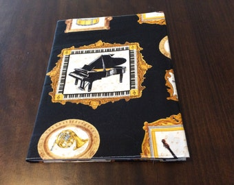 Musical Instruments Fabric Covered Journal