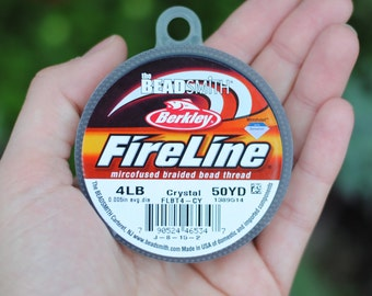 Fireline Beading Thread / 4lb / Extra Fine / Crystal / 50 Yards