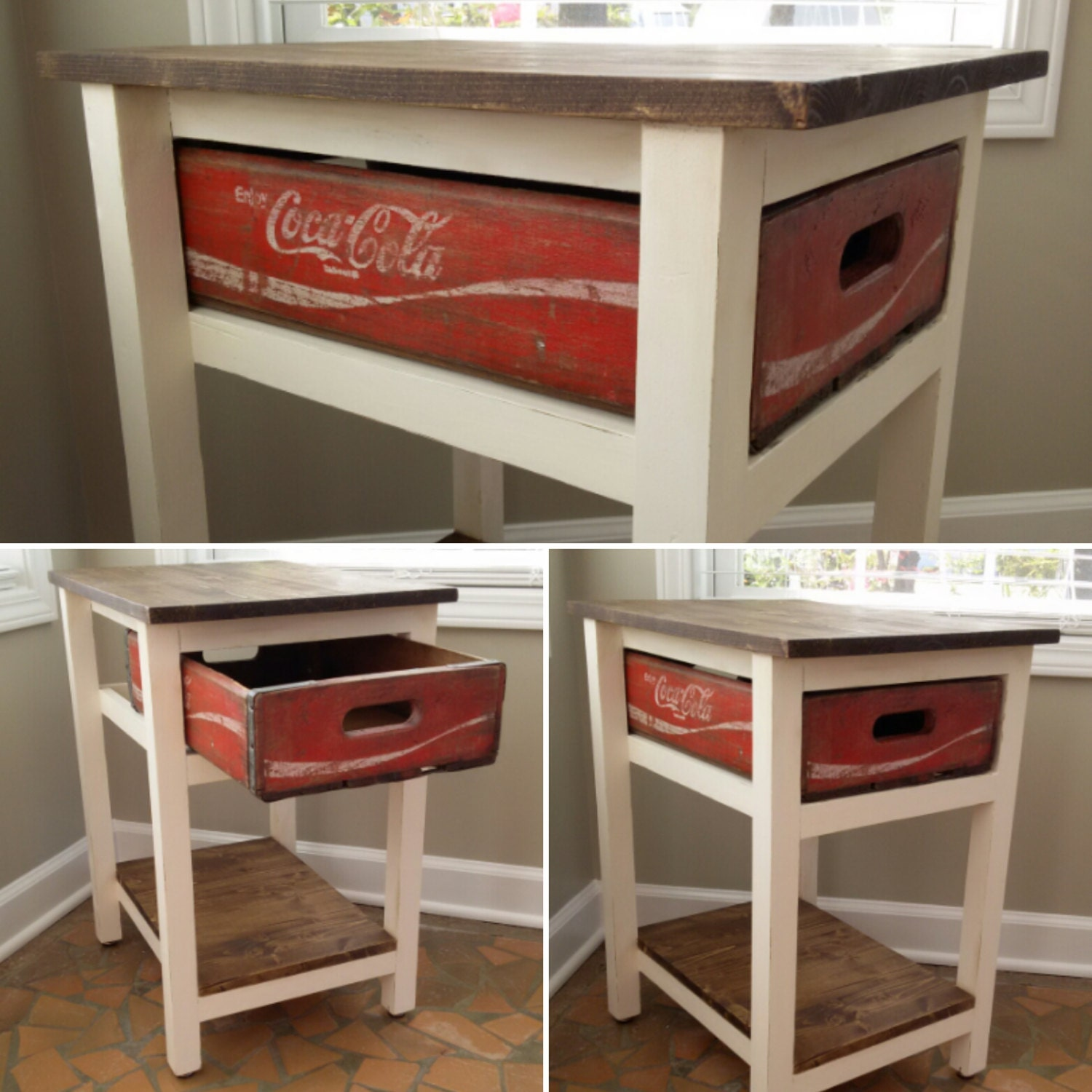 These 6 Pieces Of Colorful Furniture Are Absolute Must Haves: Coca-Cola Table Coke Table Coca-Cola End By TwistedPineDesign