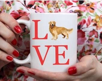 Love Golden Retriever Mug - Golden Retriever Mug - Golden Retriever - Gift For Golden Retriever Lover