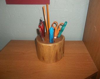 Log Furniture, Log Desk Organizer, Cabin Decor, Desk Organizer
