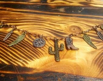Handmade Wild Wild West Charm Bracelet