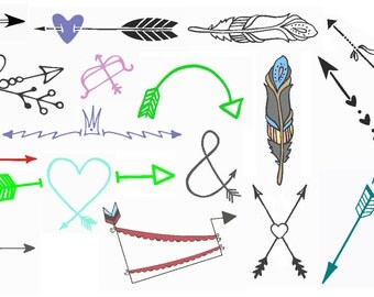 Arrows Embroidery Design Set PES