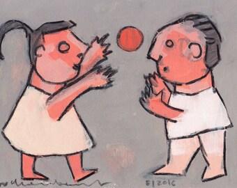 Playing a Ball - Original