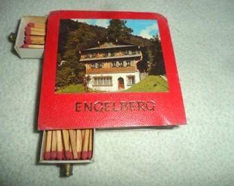 Vintage Old 70's 80's Engelberg Swiss Switzerland Matchbox Matches New Vtg Retro