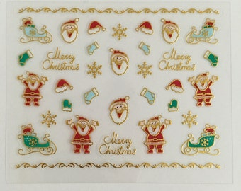 Christmas nail decals,stickers
