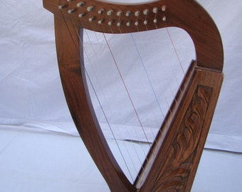 NEW 12 String Harp Made By Rose Wood