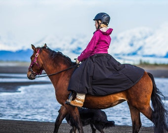 Winter Riding Skirt Insulated Waterproof Equestrian Outerwear Full Style Gifts for Horse Lovers Alternative to Snow Pants