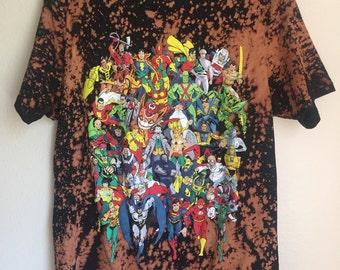 Marvel Bleached T-Shirt Men's Med
