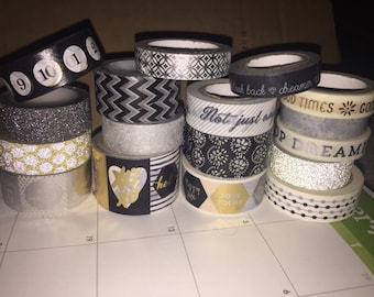 New Years Washi Tape Sampler