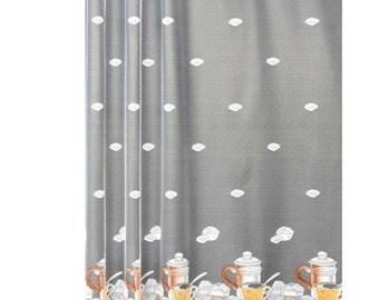 kitchen white net curtains
