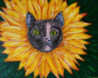 Sunflower cat Susie