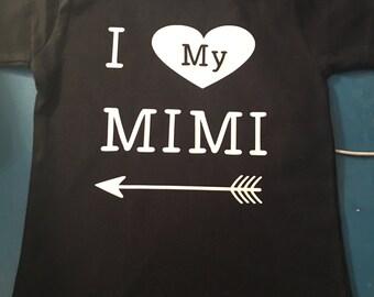 Items Similar To Bib Monogrammed I Love My Mimi