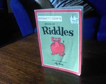 """Vintage 1960 Beginner Book """"Book of Riddles"""""""