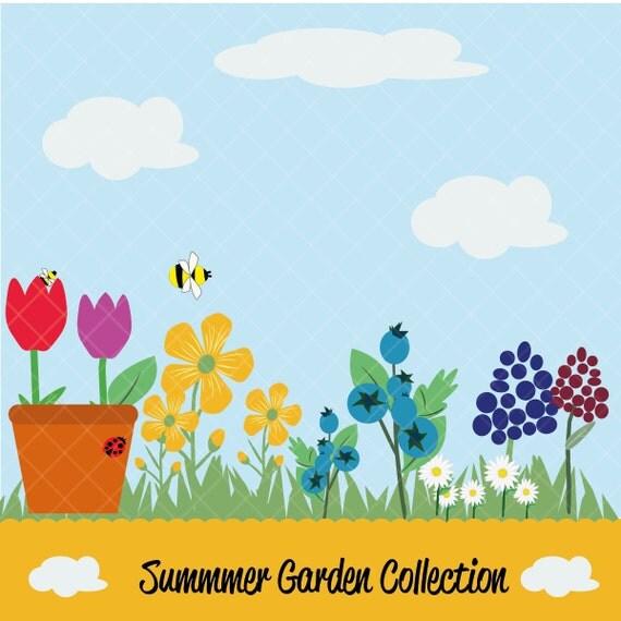 Summer Garden Collection Clipart