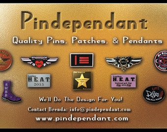 100 Custom made Lapel pins of your choice