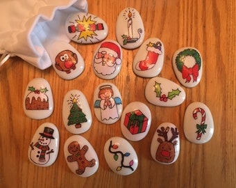 Christmas, Story Stones, Story, Father Christmas, Festive, Gift, Story telling