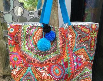 Fabric door hand or shoulder bag